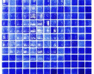 Mosaico vitreo azul cobalto niebla 2.5 x2.5 cms modelo Togama