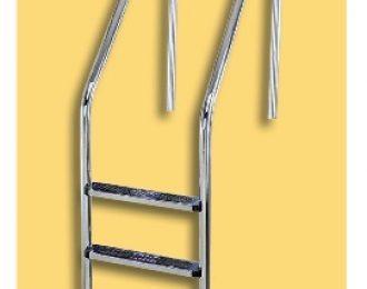 Escalera de 3 peldaños en acero inoxidable
